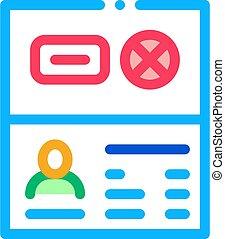 Passport Denial Icon Vector Outline Illustration - Passport ...