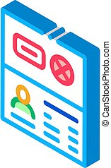 Passport Denial isometric icon vector illustration - ...