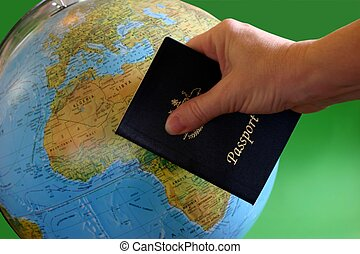 Passport for Travel - Hand holding passport in front of ...