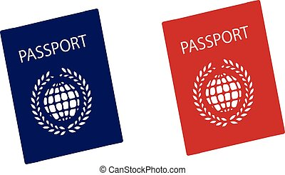 passport icon on white background