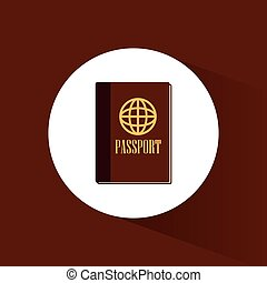 passport id document travel icon