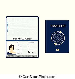 Passport identification document - Vector illustration ...