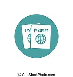 passport identification tourist button