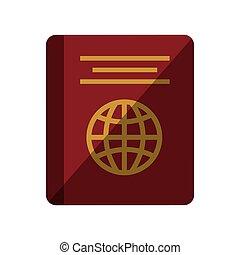 passport identification tourist shadow