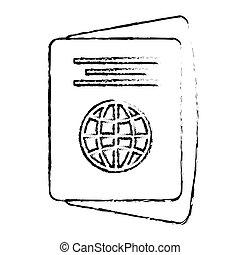 passport identification tourist sketch