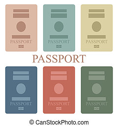 Passport - Illustration of a collection of passport book