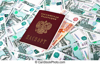 Passport of the Russian Federation and banknotes