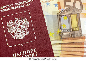 Passport of the Russian Federation and money.