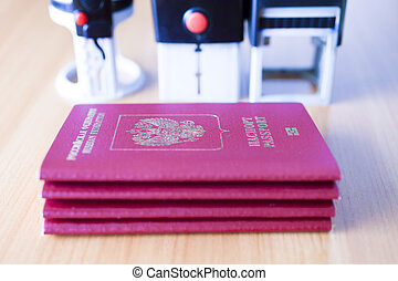 Passport on the table