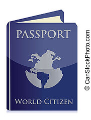 Passport on white background illustration design