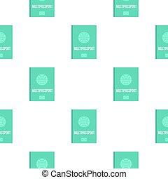 Passport pattern flat