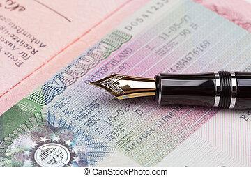 passport Russian Federation with Visa
