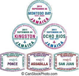 Passport Stamps - Passport stamps from Jamaica and Puerto ...