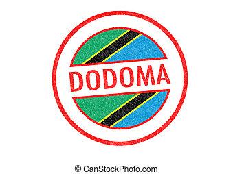 Passport-style DODOMA (Tanzania) rubber stamp over a white background.