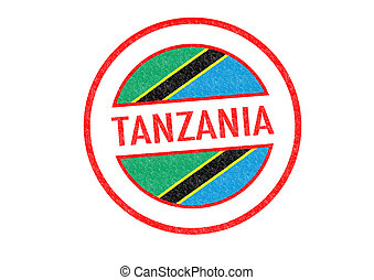Passport-style TANZANIA rubber stamp over a white background.