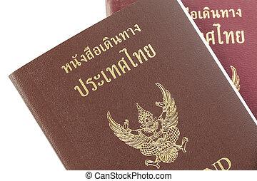 Passport Thailand for travel concept background