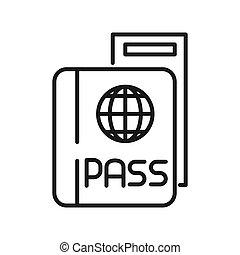 passport ticket illustration design