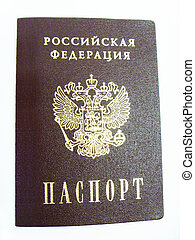 Passport to Russian Federation on white background