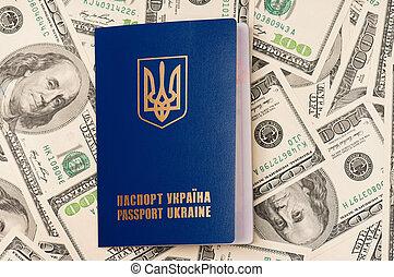 Passport Ukraine - International Ukrainian passport on US...