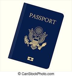 Passport vector icon