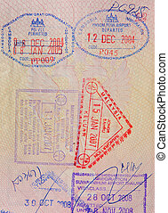 passport with malaysian thai and cambodian stamps