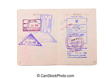 passport with stamp