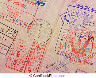 passport with thai and hongkong stamps