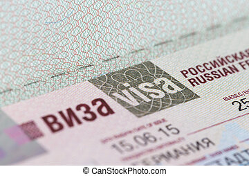 passport with to the Russian Federation - german passport...
