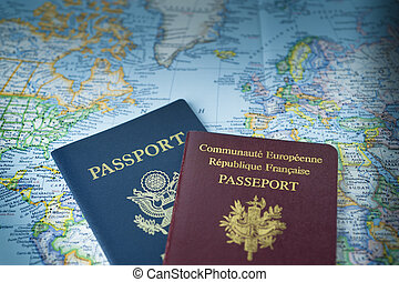 Passports for world travel - Two passports ready to travel ...