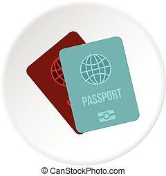 Passports icon circle