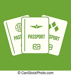 Passports icon green