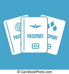 Passports icon white