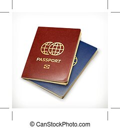 Passports, vector illustration