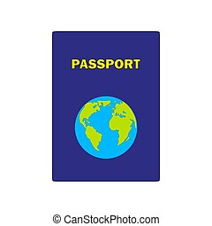 Passports with map isolated on white background