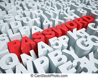 password 3d background