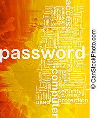 Password background concept