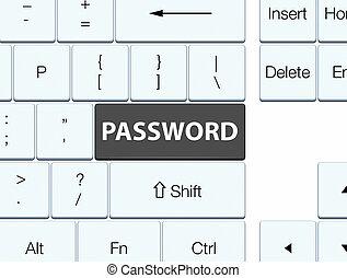 Password black keyboard button