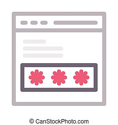 password  color line icon