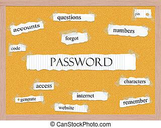 Password Corkboard Word Concept