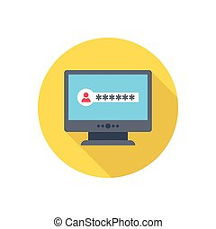 password  flat color icon