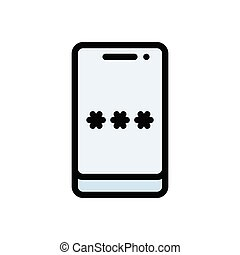 password  flat color icon