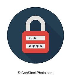 password flat icon