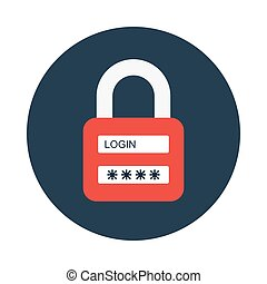 password flat icon