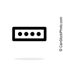 Password form icon on white background.