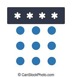 password glyph color icon