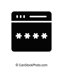 password glyph flat icon