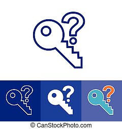 Password Hint Icon with Question Mark
