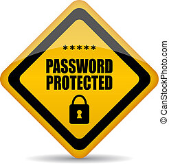 Password protected vector sign