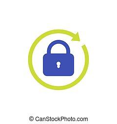 password reset icon on white, eps 10 file, easy to edit