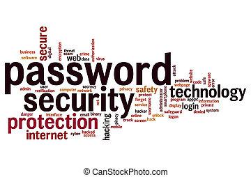 Password security word cloud